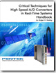 Critical Techniques for High-Speed A/D Converters In Real-Time Systems Handbook
